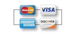 All Major Credit Cards Accepted- Visa, Mastercard, Discover, American Express